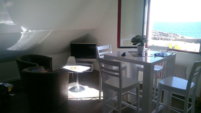 coquet studio vue mer accès direct plage - Batz-sur-Mer - Daire