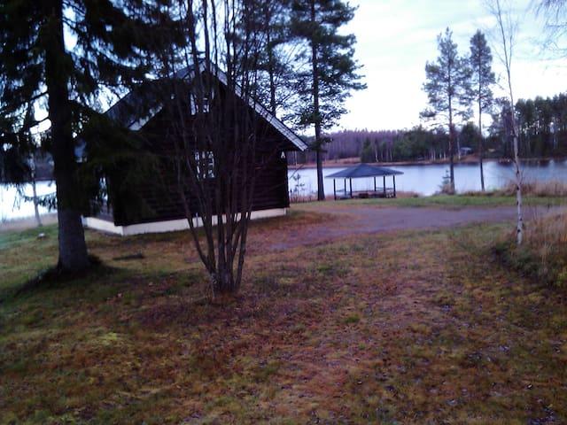 Vuokatticottage of log  by lake central Vuokatti - Sotkamo - Kulübe