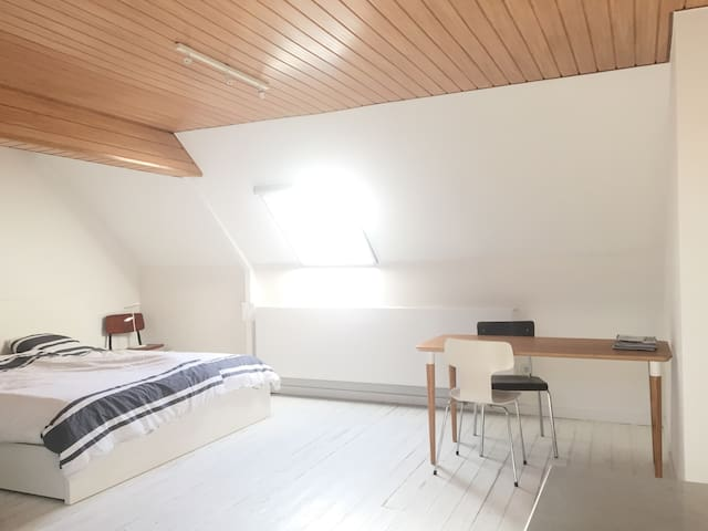 Rooftop room in city centre with private bathroom - Gent - Huis
