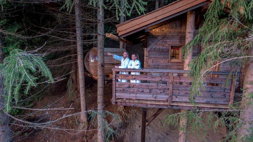 Cabane Mont-Blanc - sauna & jacuzzi - tout confort - Saint-Nicolas-la-Chapelle - Casa en un árbol