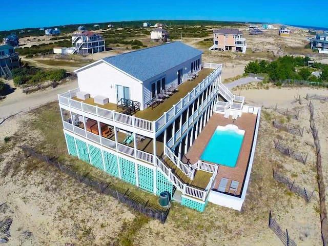 Family 4x4, Beach, Pool, Hot Tub, Theater, Sun-Sun - Corolla - Hus