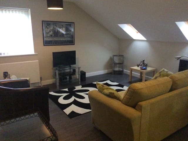 Spacious attic apartment in county durham village - Lanchester - Wohnung