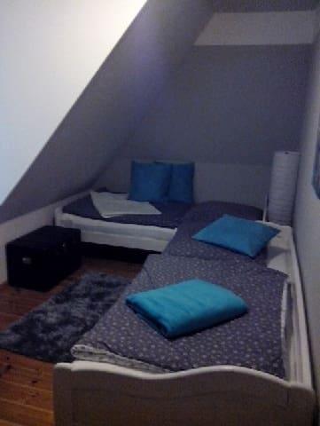 Zimmer unter Reet mit Gaube und Blick auf das Land - Steinfeld - Дом