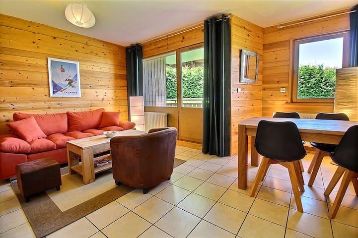 Apartment for 4 in Les Carroz, Private garage,Wifi - Arâches-la-Frasse - Apartamento