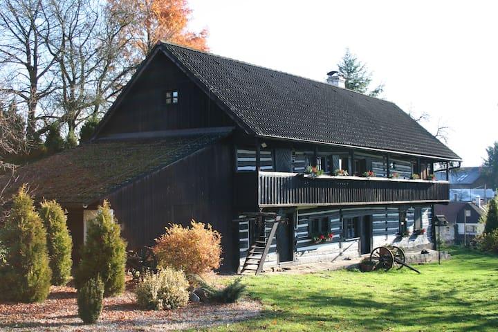 Quiet and charming log farmhouse - Libošovice