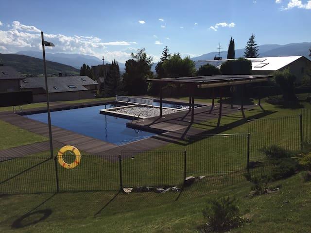 Apartamento con jardín y piscina - Osséja - Apartemen