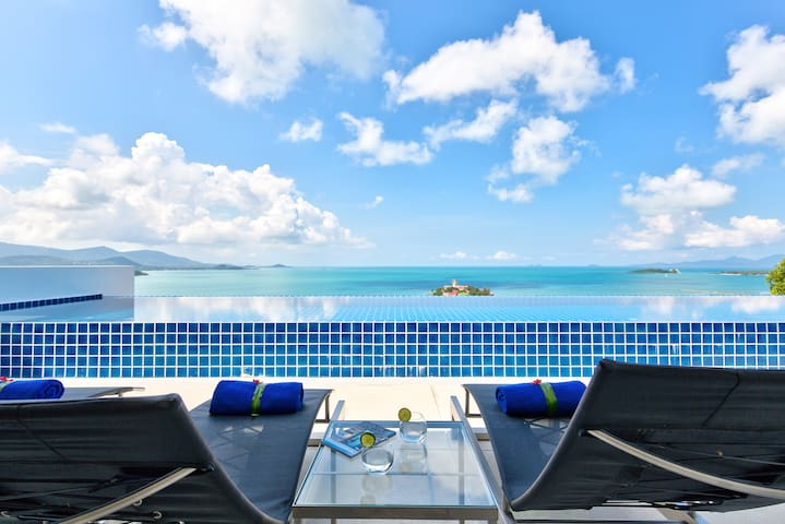 Luxury Villa with Pool & Ocean View - Koh Samui