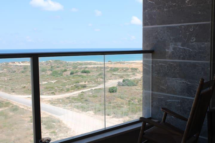 Sea View, New and Quiet - Hadera - Lägenhet