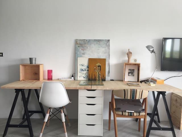 極簡之宜家駭客 Minimalist Ikea hacker 32m2 - 高雄市 - Apartemen
