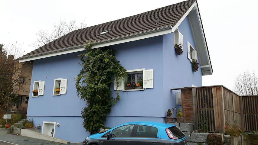 Gemütliches Zimmer im blauen Haus - Biel-Benken - Departamento