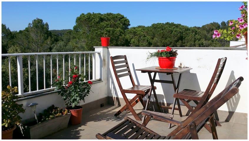 Double room & terrace - Gérone - Bed & Breakfast