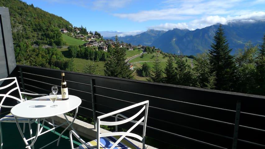 Duplex apartment - two balconies & stunning views - Torgon - Appartement