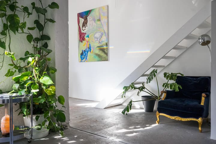Artist's warehouse studio loft conversion. - Richmond - Huis