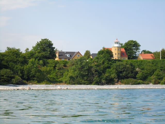 Lighthouse at the Island of Moen - Borre - House