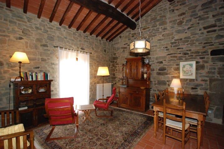 Komfortable Wohnung in toskanischem Steinhaus - Castelfranco di Sopra - Lyxvåning