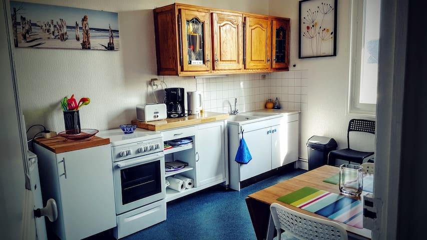 Charming apartment in the city center near the sea - Barneville-Carteret - Leilighet