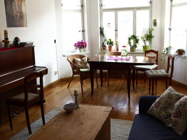 Stilvolle große Altbauwohnung mit Herz - Leipzig - Apartemen