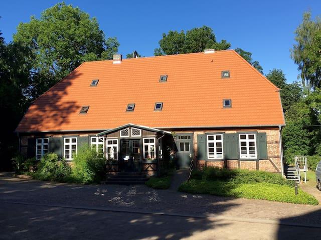 Schönes Zimmer in altem Pfarrhaus - Gutow - Casa