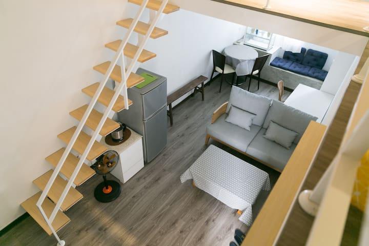 Duplex room near by 捷運行天宮(MRT Xingtian Temple) - 台北市 - Appartamento