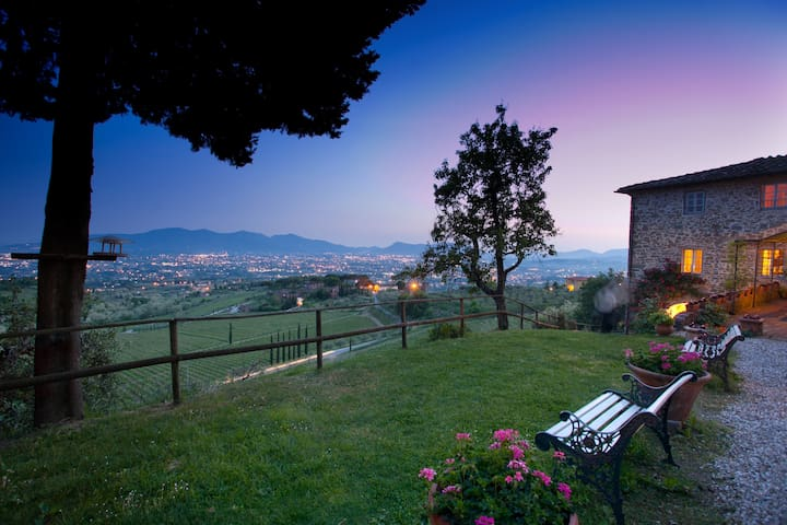 XII century holiday house with spectacular view - Valgiano - Villa