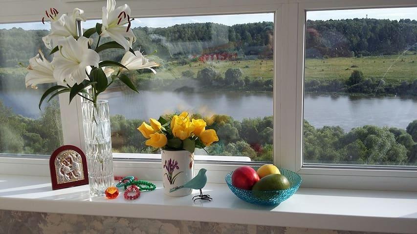 New apartment with beautiful Oka river view - Kaluga - Lägenhet