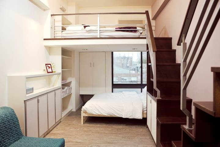 NEW!!Taipei MRT Ximen Loft 2-6people 西门捷运站 温馨独立公寓 - Wanhua District - Appartement