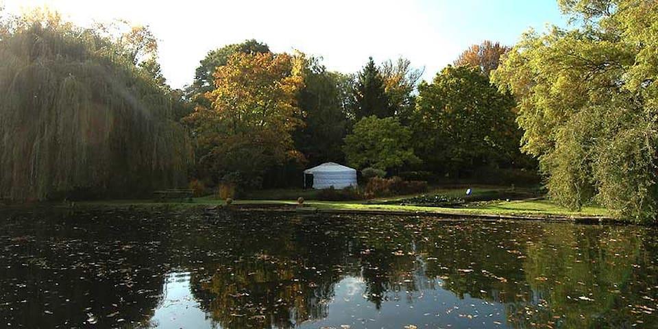 Idyllic lakeside Yurt - Radwell