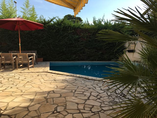Private room with direct access & pool - Montpellier - Hus
