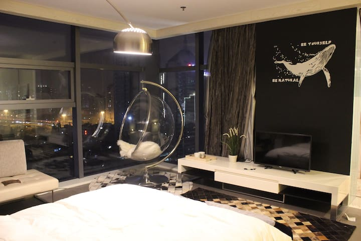 武林广场市中心17楼的太空舱 - Hangzhou - Appartement