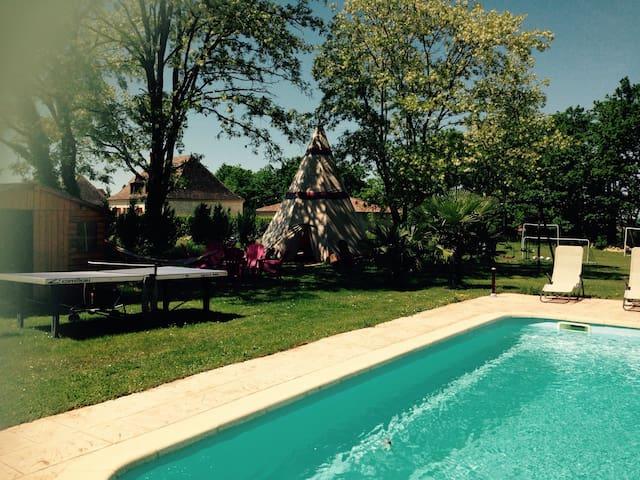 Maison neuve avec piscine chauffée - Beaumont-du-Périgord - Maison