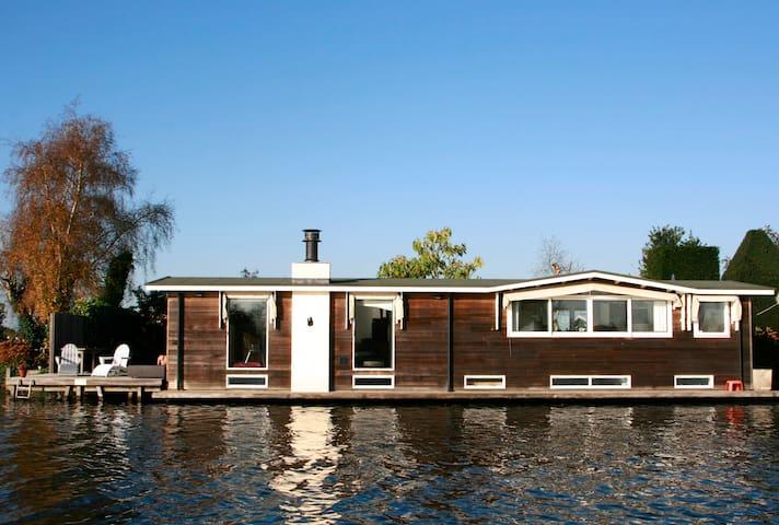 Houseboat near Amsterdam, fantastic views, 2 bikes - Vreeland - Kapal