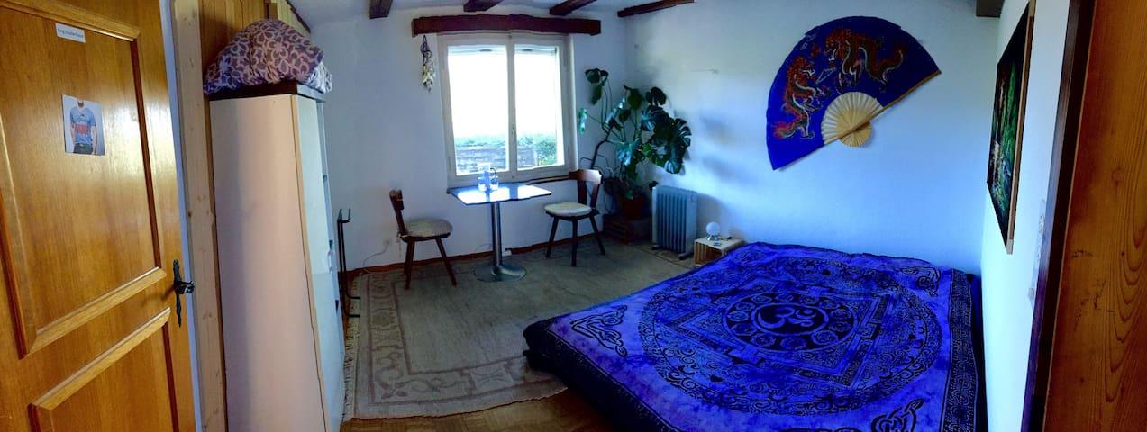 Nice King Size Double Bed Room, PT/ÖV 5 Min, Quiet - Rüschegg - Hus