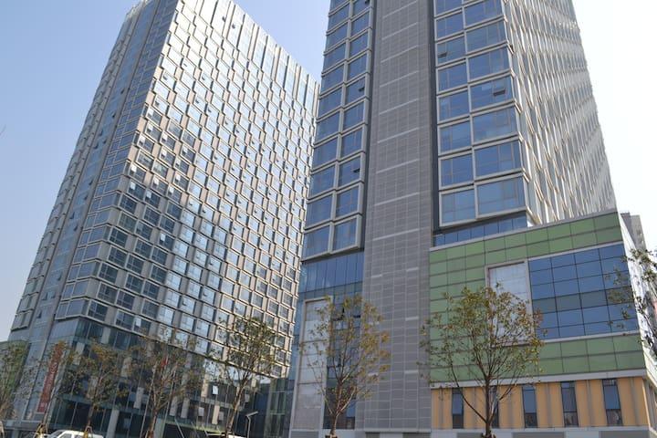 位于红谷滩新区长江路站地铁口的地中海风格公寓,阳光充沛,地段方便,家电齐全。 - Nanchang Shi - Huoneisto