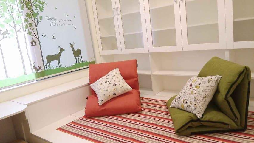 晏子的家(Yanzi's home)~一抹书香(海南海口A Sweet Room) - Haikou - Apartamento