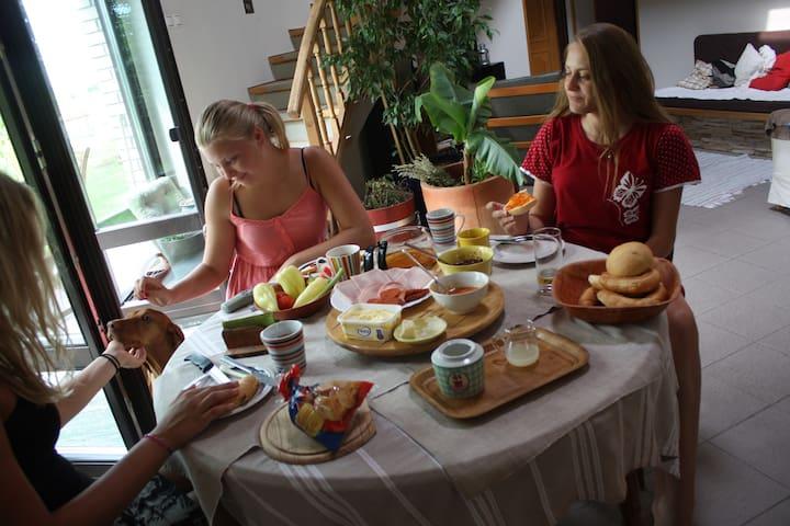 Lovely family house near Balaton - Aszófő - Bed & Breakfast