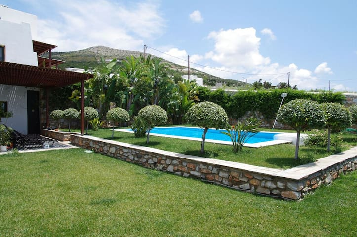 family house with swimming pool & close to kite - Paros