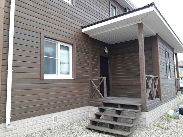 Уютная дача с баней на дровах и мангалом - Oboldino - Huis