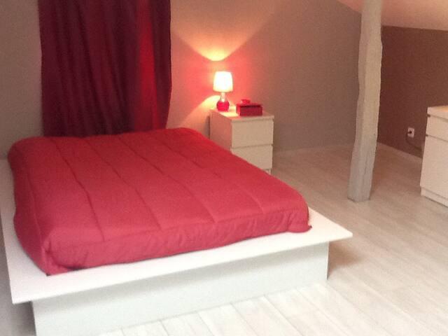 Chambre 40 m2 - Gavarret-sur-Aulouste - Casa