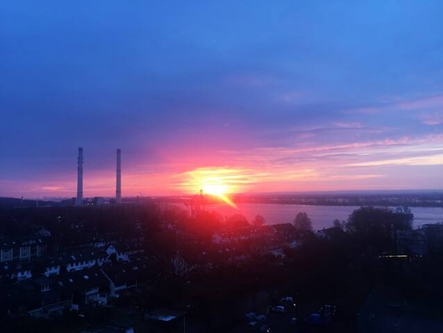 Panorama Flat with Elbview near Hamburg - Wedel