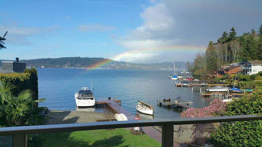 Seattle Lake Washington Water Views - Kenmore - Lägenhet