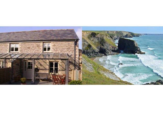 Charming Cornish barn near Padstow - Saint Merryn - Casa