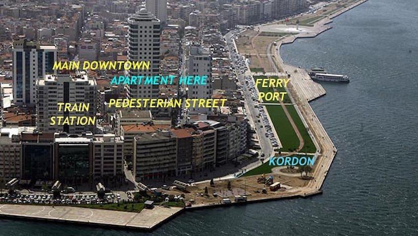 Sea View & City Center & Alsancak - İzmir - Lägenhet
