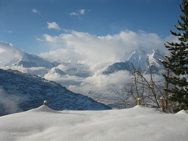 A breathtaking view over the Alps studio Lombardie - Veysonnaz - Chalet