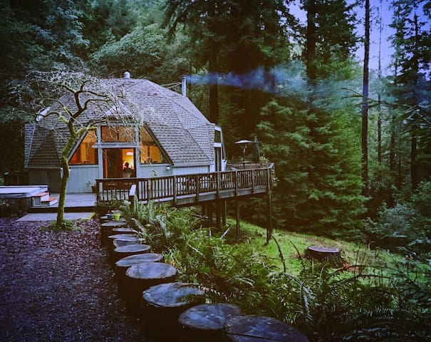 Spacious Redwood Dome Retreat in the Forest - Cazadero - Ev