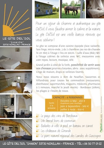 Gîte Del Sol - Noaillan - Casa
