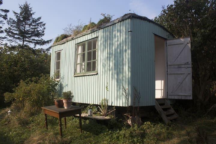 The redroom or woodcaravan in a fairytalegarden - Stege - Bed & Breakfast