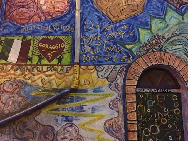 CASA×3 ParcoNazCILENTO Mural PianoV - Piano-vetrale