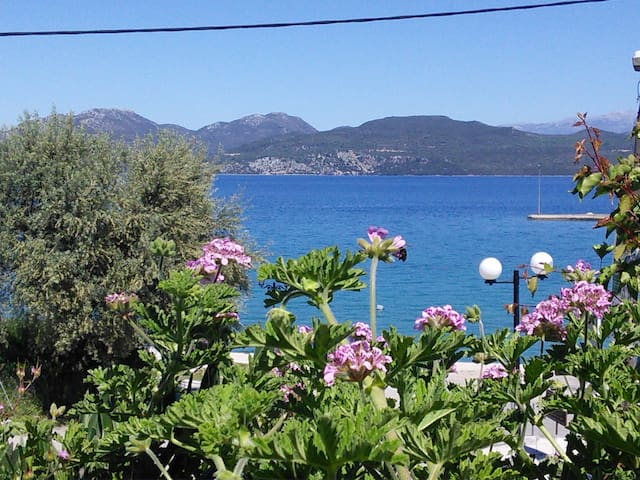 Seafront family apartment 30 meters from the beach - Lefkada - Leilighet