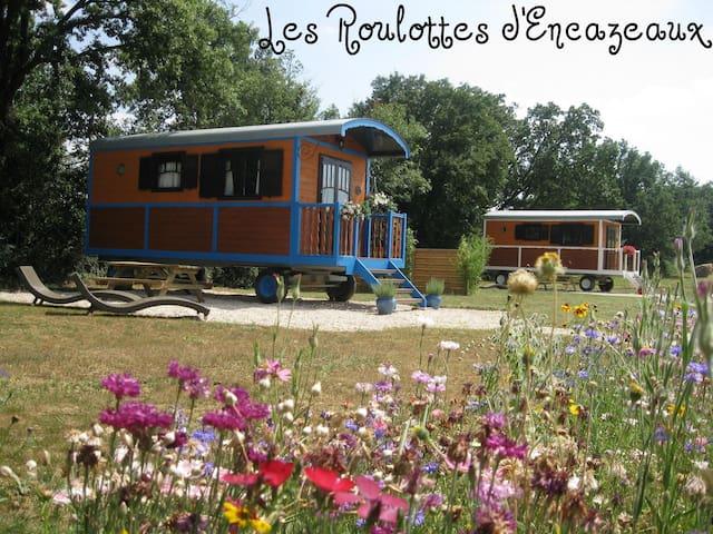 Les roulottes d'encazeaux dans le Gers en Gasconne - L'Isle-Jourdain - Overig