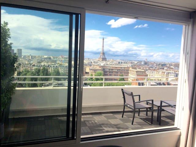 Sky penthouse near Eiffel tower - Paris - Leilighet